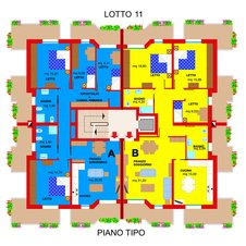 Planimetry9 Apartments Ferrara Plot 11
